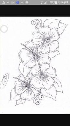 Hummingbird hibiscus tattoo drawing the hibiscus flowers for Hibiscus flower tattoo sketches