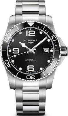 Longines Watch HydroConquest #add-content #basel-18 #bezel-unidirectional #bracelet-strap-steel #brand-longines #case-material-steel #case-width-41mm #cws-upload #date-yes #delivery-timescale-call-us #dial-colour-black #discount-code-allow #gender-mens #l37814566 #luxury #movement-automatic #new-product-yes #official-stockist-for-longines-watches #packaging-longines-watch-packaging #style-divers #subcat-hydroconquest #supplier-model-no-l3-781-4-56-6…