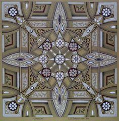 Mandala art by South African artist Lize Beekman 'connection' Mandala 92