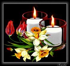 2 Kerzen im Glas - Jappy, Facebook GB Bilder - GB Pics & Gästebuchbilder