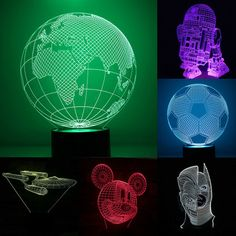 Death Star 3D LED Night Light Touch Switch Table Desk Lamp 7 Color Xmas Gift | eBay