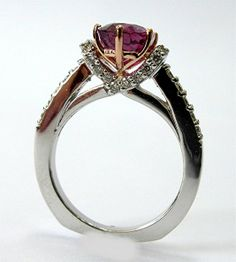Custom Made Three And Half Carat Ruby And Diamond Engagement Ring