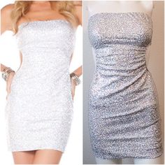 FINAL PRICEWHITE SEQUINS DRESS Pure sexiness in this dress. White with silver sequins all over, cut out sides. PRICE FIRM Dresses