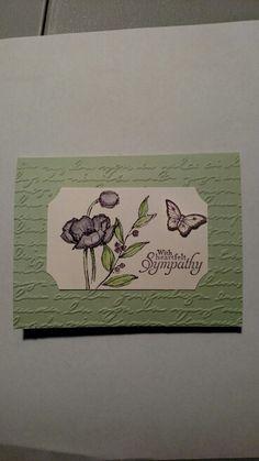 Simply sketched sympathy card