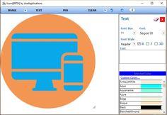 Icons es un software gratuito, compatible con las diferentes versiones de Windows, para convertir imágenes en iconos que podemos personalizar. Software, Text Fonts, Font Styles, Aqua, Image, Tools, Icons, Water