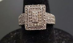 Preowned .50 CTW White Diamond Accent Ring Size 7 | Jewelry & Watches, Fine Jewelry, Fine Rings | eBay!