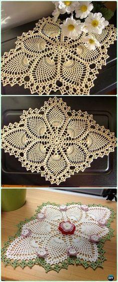 Free Pineapple Crochet Table Runner Pattern Free Rounded Crochet