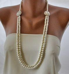 Collana da sposa fatti a mano con perle e di HMbySemraAscioglu