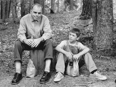 """Billy Bob Thornton and Lucas Black in """"Sling Blade"""". This little boy, Lucas Black was excellent too. Haven't seen him in any other film."""