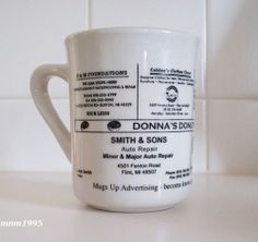 Flint MI Donna's Donuts Ainsworth Barber Shop Advertising Coffee Tea Mug Cup 8oz | eBay