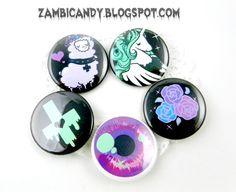 Pastel goth 5 button set