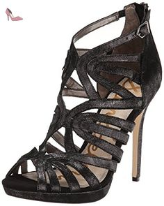 Sam Edelman Eve Femmes US 10 Noir Sandales EU 41,5 - Chaussures sam edelman (*Partner-Link)