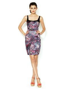Garner Printed Stretch Satin Dress