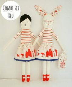Girl and Bunny- Etsy mikodesign