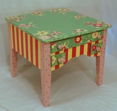 colorful paint and decorating ideas for kids tables