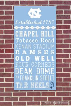 UNC (North Carolina) Painted Wood Sign / Word Art ~ LOVE that my heels use argyle...