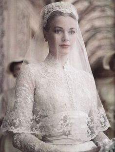 Grace Kelly on her wedding day Monaco
