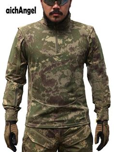 43f18083dee3b Men Military Tactical Shirts Bionic Camouflage Summer Autumn Shirt Urban  Police Tactical Army Jacket Outwear.