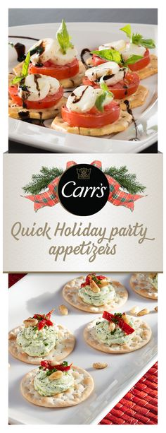 Whether simple or dressed up, Carr's® Crackers are as authentic and thoughtful as the person who serves them. These delicious and easy to make appetizers are the perfect addition to any holiday spread this season. Click to discover the full recipes and more everyday entertaining ideas.