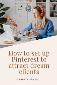 #pinterest The first thing you need to do when you start Pinterest marketing is to properly set up your Pinterest page. Learn how to set up Pinterest account to attract dream clients and get leads from Pinterest #marketing #ayalie