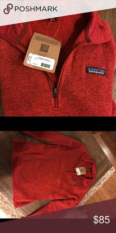 Red Patagonia Pullover Red 1/4 zipper pulled over, NWT. Size large Patagonia Jackets & Coats Puffers