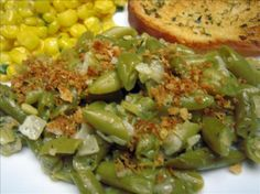 "Fabulous Frozen Green Beans from Food.com:   								Green beans out of season ? - no time to shop ? - too hot to cook ? - no time to cook ? You will treasure this recipe! Be sure to use ""whole"" frozen green beans."