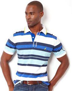nautica polo stripes | Nautica Big and Tall Shirt, Sun Drenched Polo $79.50 thestylecure.com