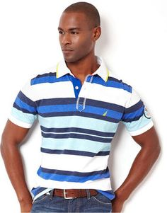 nautica polo stripes | Nautica Big and Tall Shirt, Sun Drenched Polo $79.50 thestylecure.com