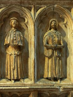 Mourners on Thomas de Beauchamp's tomb, Collegiate church of St Mary, Warwick, c.1360-1375.
