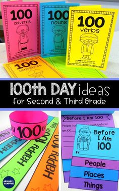 These day activities for kids will give second and third grade teachers ideas for math, ELA, and writing on the day of school. This post is perfect for and graders with the writing and self-portraits making a great January or February bulletin board too! Classroom Fun, Classroom Activities, Activities For Kids, 100 Day Of School Project, 100 Days Of School, School Holidays, 100 Day Celebration, Celebration Quotes, February Bulletin Boards