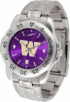 Washington Sport Anonized Men's Steel Band Watch SunTime. $63.95. Officially Licensed Washington Huskies Men's Stainless Steel Wristwatch. AnoChrome Dial Enhances Team Logo And Overall Look. Stainless Steel-Scratch Resistant Crystal. Men. Links Make Watch Adjustable