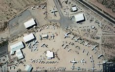 Aerial View of Pima Air and Space Museum