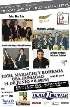 Trío, Mariachi y Bohemia para tí Papá @ Humacao #sondeaquipr #diadelospadres #cba #humacao #triomariachiybohemia