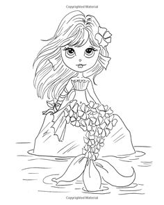 Lacy Sunshine's Enchanted Seas Coloring Book Volume Mermaids, Pirates, and Sea Life (Lacy Sunshine Coloring Book) Fairy Coloring Pages, Coloring Pages For Girls, Coloring Books, Cute Cartoon Pictures, Cute Images, Creation Art, Unicorn Art, Digital Stamps, Colorful Pictures