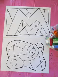 Color inside-the-lines activity.
