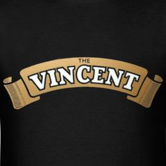 Vincent Motorcycles  Ribbon Emblem. Gonna paint a wood sign for my daddy :)