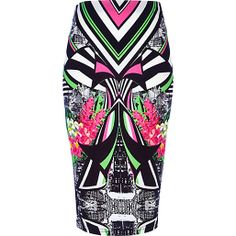 From tube skirts to maxi skirts detailed with ruffles and frills and mini skirts re-worked in high shine vinyl, update your spring outfits with our skirts. Black Abstract, Abstract Print, High Skirts, Printed Pencil Skirt, Pencil Skirts, Tube Skirt, Elastic Waist Skirt, Stylish Outfits, Stylish Clothes