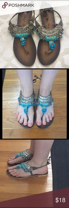 Penny loves Kenny beaded sandals Barely worn in perfect condition! penny loves kenny Shoes Sandals