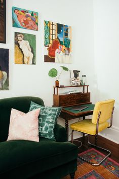 5476d13bab768e Inside a Boho Chic Home That Stuns With Vintage Details Desk Nook
