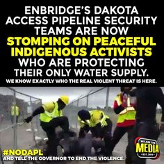 Support Standing Rock Water Protectors. This is disgraceful. Shame on us AMERICA!