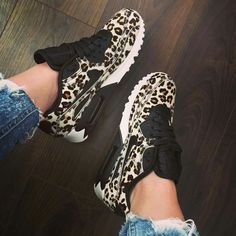 Sexy Casual High Heels Source by avaemarcello fashion sneakers Cute Shoes, Me Too Shoes, Sneakers Fashion, Fashion Shoes, Adidas Fashion, Motif Leopard, Cheetah Print, Shoe Boots, Shoes Heels