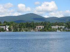 Mirror Lake, NY in Adirondack Park