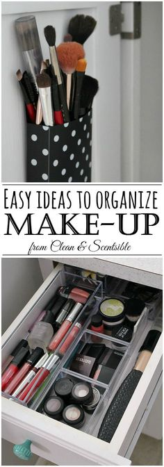 Great ideas for organizing your make-up and a list for when to toss that old make-up!  I must do this!