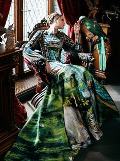 A glamorous dress can act as an unconventional canvas for a gorgeous work of…