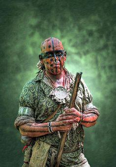 Battle Of Bushy Run Warrior Scout Portrait by Randy Steele