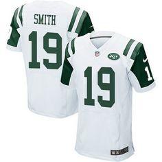 New York Jets #19 Devin Smith White Road NFL Nike Elite Men's Jersey