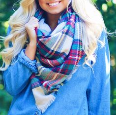 Our best selling Blanket Scarf is FREE FREE FREE with any $100 purchase! Hurry, this deal and our Outerwear Sale ends today! Only at Marleylilly.com!
