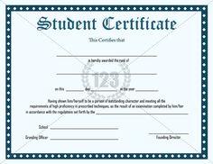 Inspirational Student Certificate Template Free Download #Certificate #Template