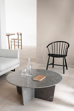 Scandinavian home decor inspiration. The Tableau Coffee Table designed by Space Copenhagen, stands out as a center piece surrounded by Ejvind A. Johansson's Chair and the Calmo Sofa by Hugo Passos. Cafe Tables, A Table, 11 Howard Hotel, Space Copenhagen, Upscale Restaurants, White Laminate, Interior Decorating, Interior Design, Coffee Table Design