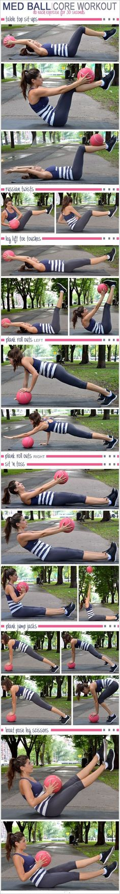 Get ready to work your core with these dynamic moves using the stability ball. This core stability ball circuit was designed as a workout for beginners.   #weightloss #loseweight #howtoloseweight #cor